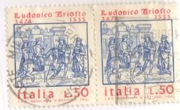 1974 Italia 1268x2 Ariosto  Usata - 6. 1946-.. República