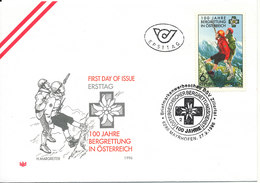 Austria FDC 27-9-1996 Mountain Rescue Service 100th Anniversary With Nice Cachet - FDC
