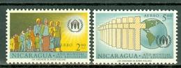 Nicaragua 1960 Yv PA 423/424** - SG 397/1398**   MNH - World Refugee Year - Nicaragua