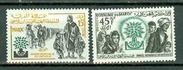 Maroc 1960 Yv 402/403** - Mi 451/452**   MNH - World Refugee Year - Marokko (1956-...)
