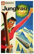 Affiche - Poster - Switzerland Jungfrau Region - Alpes - Alpen - Publicité