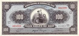 * PERU 100 SOLES 1965 P-90 AU/UNC [PE090] - Peru
