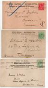"""Grande-Bretagne--George V --Lot De 3 Cartes """"Bulletin De Commande De Librairie"""" Pour Bordeaux(France)-LONDON W - 1902-1951 (Kings)"""