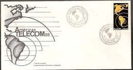 Brazil & FDC Americas TELECOM 88, World Telecommunication Forum, Rio De Janeiro 1988 (1871) - Telecom