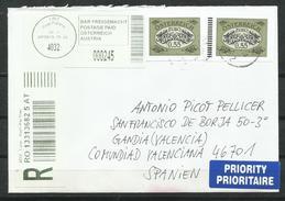 Austria. 2013_ Certificado De Linz A Valencia. - 1945-.... 2a Repubblica