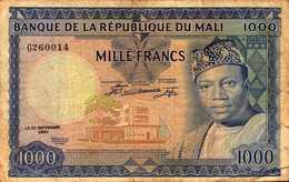 MALI 1000 FRANCS Du 22 Septembre 1960 Pick 9    RARE - Mali
