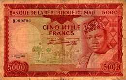 MALI 5000 FRANCS Du 22 Septembre 1960 Pick 10    RARE - Mali