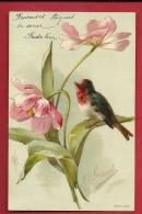 FJM-16 Illustrateur Brasch Fleurs Et Oiseau.  Précurseur. Circulé - Illustrators & Photographers