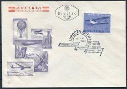 1961 Austria Wien LUPOSTA Flugpost Exhibition FDC Cover - 1945-.... 2nd Republic