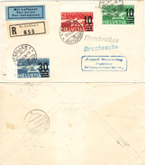 80) SVIZZERA LETTERA RACCOMANDATA AEREA SANGALLO - WEINGARTEN 23.9.1936 - Posta Aerea
