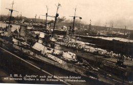 S.M.S. SEYDLITZ  Nach Der Skagerrak - Schlacht  Mit  Schweren  In Der  Scheuse  Zu Wilhelmshaven - Warships