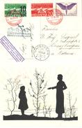 81) SVIZZERA CARTOLINA VIA AEREA SEGELFLIGERLAGER 16.9.1935 - JUNGFRAUJOCH - Posta Aerea