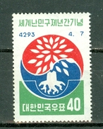 Korea 1960 Yv 234** MNH - World Refugee Year - Corée Du Sud