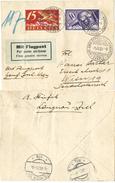 82) SVIZZERA LETTERA VIA AEREA GENEVE - WIEN 1.8.1925 - XVII UNIV. ESPERANTO KONGRESSO - Posta Aerea