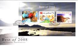 New Zealand Set Of 3 'Best Of 2008' Stamp Rewards Miniature Sheet On Covers Dated December 31, 2008 - Nouvelle-Zélande