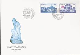 Norway 1998 200 Years Of City Egersund, Mi 1278-1279 FDC - FDC