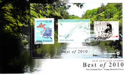 New Zealand Set Of 3 'Best Of 2010' Stamp Rewards Miniature Sheet On Covers Dated December 31, 2010 - Lettres & Documents