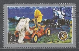Equatorial Guinea 1976, Scott #7202 Apollo 15, Lunar Vehicle Assembly (U) - Guinée Equatoriale