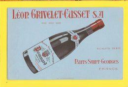 BUVARD & Blotting Paper : Vin NUITS SAINT GEORGES  Pommard - Liquor & Beer