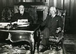 Paris Politiciens Louis Barthou & Norman Davis Ancienne Photo Meurisse 1930 - Berühmtheiten