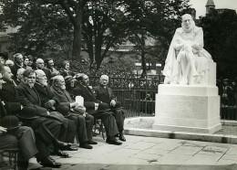 Paris Sorbonne Inauguration Statue De Montaigne Ancienne Photo Meurisse 1930 - Célébrités