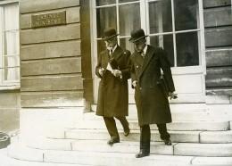 Paris Catastrophe Ferroviaire De Pomponne M Paganon & M Riboud Ancienne Photo Meurisse 1933 - Famous People