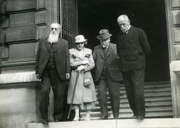 Paris Institut Pasteur M Lacroix, Poincaré, Louis Martin Ancienne Photo Meurisse 1934