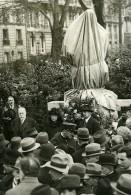 Paris Square Laborde Statue De Paul Déroulede Mutilée Ancienne Photo Meurisse 1933
