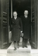 Paris Politicien Camille Chautemps & Philippe Marcombes Ancienne Photo Meurisse 1934