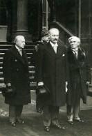 Paris Politicien President Lebrun Magre General Braconnier Paul Boncour Ancienne Photo Meurisse 1932