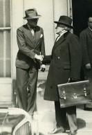 Paris PoliticienPaul Boncour & Pierre Cot Ministere De La Guerre Ancienne Photo Meurisse 1932