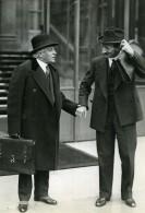 Paris Politiciens Paul Boncour & Georges Bonnet Ancienne Photo Meurisse 1930
