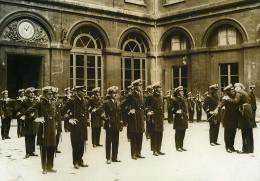 Paris Prise D'armes Au Ministere De La Marine Legion D'Honneur Ancienne Photo Meurisse 1930 - Célébrités