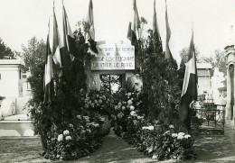 Paris Cimetiere Montparnasse Monument Garde Républicaine Ancienne Photo Meurisse 1930