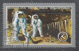 Equatorial Guinea 1972, Scott #7204 Apollo 15, Hadley Cleft Picking Of Crystalline Rock (U) - Guinée Equatoriale