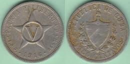 1916-MN-125 CUBA REPUBLICA 5c KM 11.1 1916. ESTRELLA - Cuba