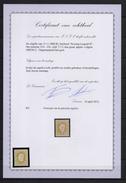 32A KONING LEOPOLD II 25C.  POSTFRIS** PERFECTE CENTRAGE ,MET CERTIFICAAT  CAT:1.350 EURO - 1869-1883 Leopold II.
