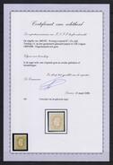 32B KONING LEOPOLD II 25C. POSTFRIS** MET CERTIFICAAT CAT:475 EURO - 1869-1883 Léopold II