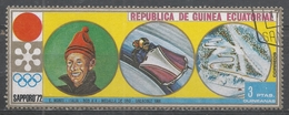 Equatorial Guinea 1972, Scott #7214 Eugenio Monti (Ita), Bobsleigh (U) - Guinée Equatoriale