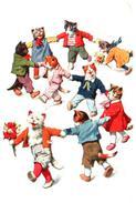 Illustrateur Forny - Chats Humanisés Farandole - Illustratori & Fotografie