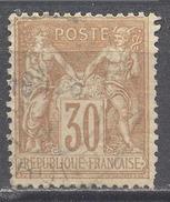 France YT N°80 Sage Type II Oblitéré ° - 1876-1898 Sage (Type II)