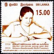 Sri Lanka - 2016 - Sirimavo Bandaranaike Birth Centenary - Mint Stamp - Sri Lanka (Ceylon) (1948-...)