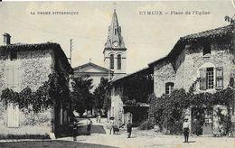 Eymeux (Drôme) - Place De L'Eglise - Belle Animation - Edition S. Convert Vinay - Altri Comuni