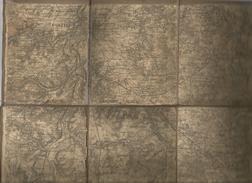Carte Géographique , POITIERS CHAUVIGNY QUEAUX ROMAGNE , Vienne , 41 X 32 Dépliée , 4 Scans , Frais Fr : 1.95€ - Geographical Maps