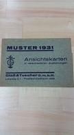 531204,Reklame Umschlag Ansichtskarten Glaß & Tuscher Leipzig Muster 1931 Sachsen Lee - Werbepostkarten