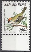 1316 San Marino 1990 Regulus Ignicapillus - Pinus Nigra Nuovo MNH - Passeri