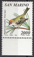 1316 San Marino 1990 Regulus Ignicapillus - Pinus Nigra Nuovo MNH
