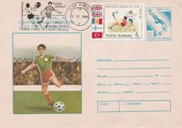 Roumanie 1986 BT Du 13-12-1986 (Sibiu) - Finale De La Coupe Intercontinentale Sur Entier Mexico'86 - Marcofilia - EMA ( Maquina De Huellas A Franquear)