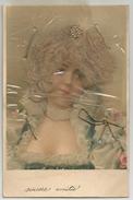 Capelli Veri, Vrai Cheveux, 17.7.1903, Sincère Amitié, Cartolina Francese. - Altri