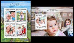 MOZAMBIQUE 2016 - Princess Charlotte. M/S + S/S. Official Issue - Koniklijke Families
